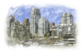 free illustration sketch vancouver skyline design free image