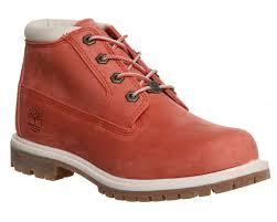 womens timberland boots size 9 womens timberland nellie chukka waterproof salmon nubuck boots