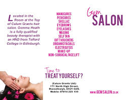 beauty brochure template