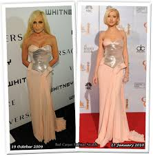 Christina Aguilera Meme - who wore versace better donatella versace or christina aguilera