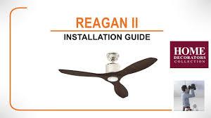 ii ceiling fan installation guide youtube
