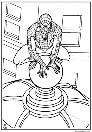 spiderman coloring pages free 12