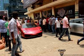 lamborghini car owners in chennai supercar and sbk owners throng up in sathyam theater chennai to