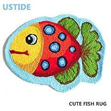 Fish Bath Rug Ustide Fish Rug Blue Handmade Bath Mat Animal