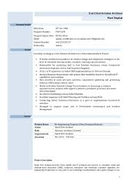 Project Architect Resume Sample Oracle Solution Architect Sample Resume Bank Chief Operating