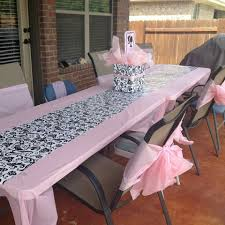 tablecloths and chair covers spa tatum table and chairs chair cover bows made from pink