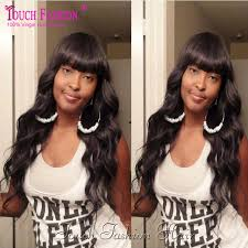 body wave hair with bangs glueless full lace wig with bangs body wave brazilian lace front