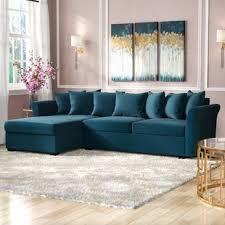 blue velvet sectional sofa royal blue velvet sectional wayfair