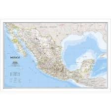 Mexico On The Map by Mexico Classic Wall Map Laminated National Geographic Store