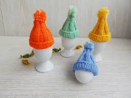knitted easter cozy egg hats set of 4 knit egg warmers