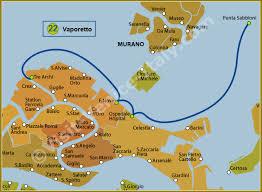 venice vaporetto map water venice vaporetto map of line 22 actv