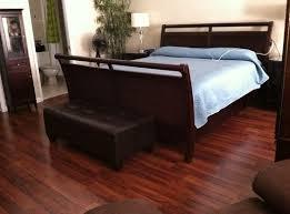 bedroom with cherry laminate flooring laminate floor
