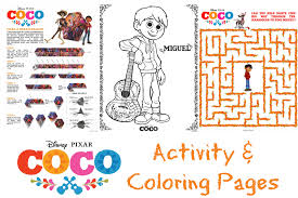 pixar u0027s coco activity and coloring pages as the bunny hops