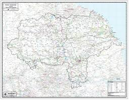 Essex County Map Paper Laminated North Yorkshire County Map Jpg V U003d1503058850
