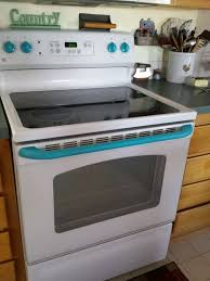 can you paint kitchen appliances give your white stove a touch of vintage hometalk