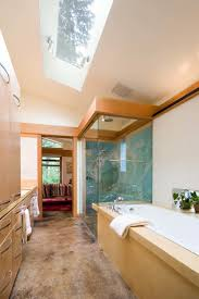 21 beautiful bathroom attic design ideas pictures narrow modern bathroom an airy appeal with the skylight