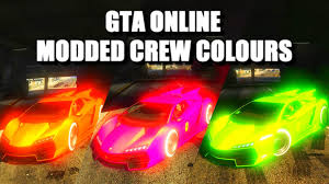 best orange color code gta online modded crew colors gta online best modded crew