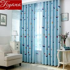 Curtains For Boys Room Boat Curtains Printed Voile Sheer Window Screen Yarn