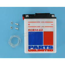 parts unlimited heavy duty 12 volt battery rcb14a2 atv