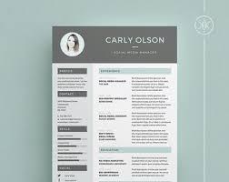 indesign resume etsy
