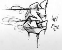 graffiti alphabet letter e sketches 2