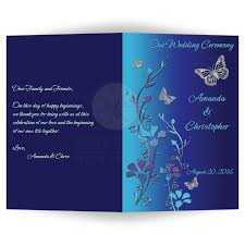 silver and royal blue wedding wedding program royal blue turquoise mauve flowers silver
