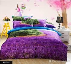 3d Bedroom Sets by Purple Lavender Oil Painting 3d Bedding Set Queen Size 100 Cotton