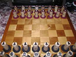 home made chess pieces homemade wine cork chess set for my