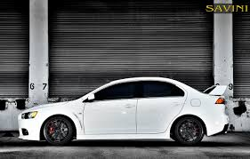 mitsubishi lancer 2017 black evo savini wheels