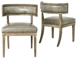 leather tufted nailhead dining chairs grey chair where to buy room