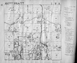 Pratt Map 1954 Bayfield County Farm Plat Maps