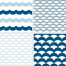 fish scale pattern and wave pattern navy color nautical theme