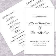 simple wedding program template 21 wedding program templates free sle exle format