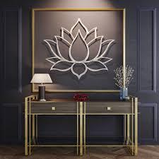 Lotus Flower Wall Decal Om by Lotus Flower Metal Wall Art Metal Flower Wall Art Large Metal