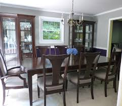 i love my new royal purple and gray dining room behr paint