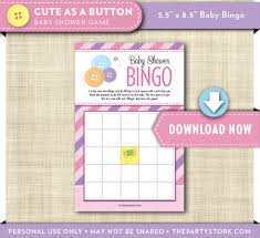 cute as a button baby shower games printable bingo cards