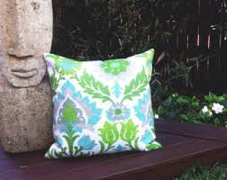 outdoor cushions tropical outdoor pillows palm leaves