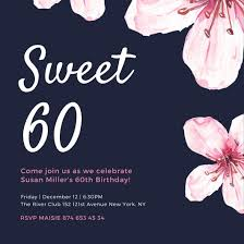 celebrate 60 birthday customize 924 60th birthday invitation templates online canva