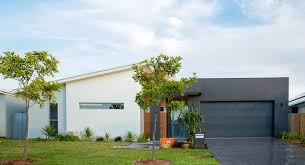 modern home design for narrow lot front facade modern home with parapet and skillion roof