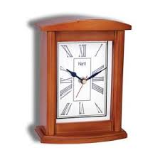 kent solid ash table clock wood clock b18 kent solid wood table clock features light cherry