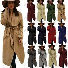 la s women italian waterfall long duster belted parka outwear