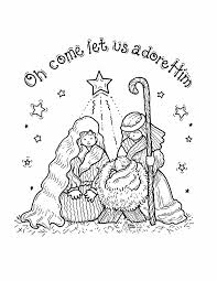 24 nativity christmas coloring pages worlds catalog