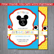 Mickey Mouse Invitation Cards Printable Mickey Mouse Clubhouse Birthday Party Invitations U2013 Gangcraft Net