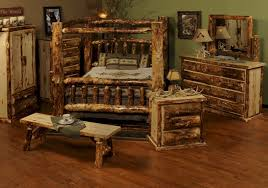 Pine Bed Set Log Bedroom Sets Stunning Modest Home Design Ideas