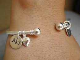 anniversary gifts jewelry personalized wedding gift for silver initial cuff