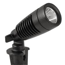 exterior spot light fixture moonrays low voltage 1 watt black outdoor integrated led adjustable