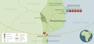 Mozambique Map Mozambique Honeymoon Discover Africa Safaris