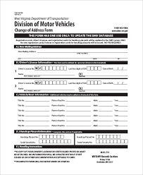 dmv change of address form the application for title or