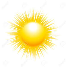 the sun with sharp rays isolated on white background royalty free