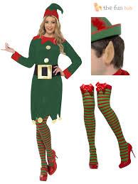 costume santas helper womens fancy